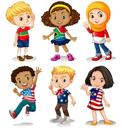 Children from different countries vector