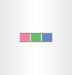 colorful film strip icon vector image