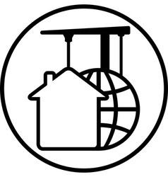 construction development icon vector image vector image