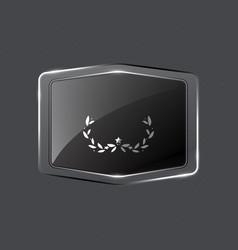 create crystalline badge on grunge background vector image