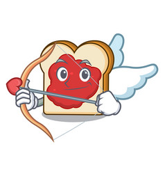 cupid bread with jam character cartoon vector image