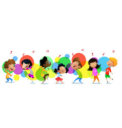 cute funny children in dance studio vector image