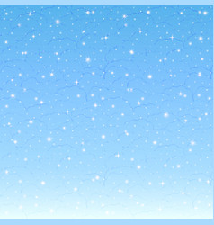day background snowflakes on light blue sky vector image
