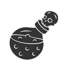 Death potion glyph icon silhouette symbol alchemy vector