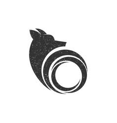 Dog logo technology simple minimalist design vector