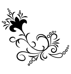 Doodle abstract handdrawn flower ornament vector