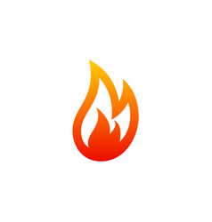 Fire gas abstract logo vector