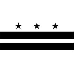 Flag washington dc district columbia black vector