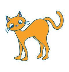 Funny cute cat icon vector