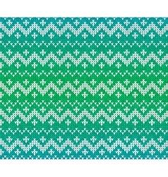 Green knitted Scandinavian ornament seamless vector