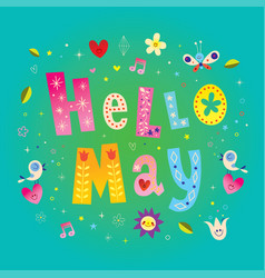 hello may vector image