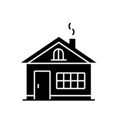 House black glyph icon vector
