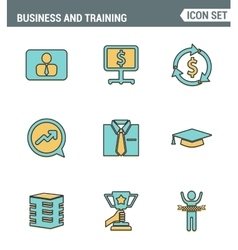 Icons line set premium quality of corporate vector image