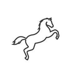 jumping horse line icon images vector image