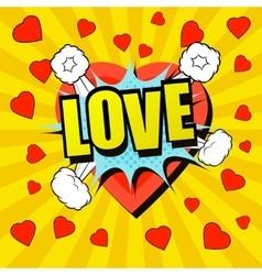 Love comic cartoon text vector