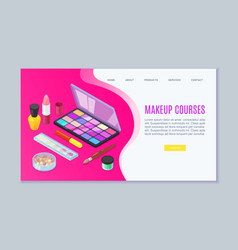 makeup visagist and beauty courses make up vector image