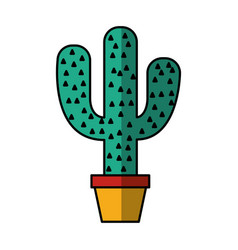 mexican cactus isolated icon vector image vector image