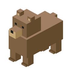 Modular bear animal plastic lego toy blocks and vector