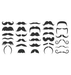 moustaches symbols vintage male moustaches vector image