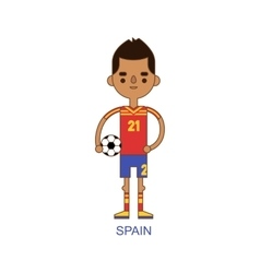 National spain soccer football player vector image
