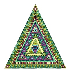 Original drawing tribal doddle triangle vector