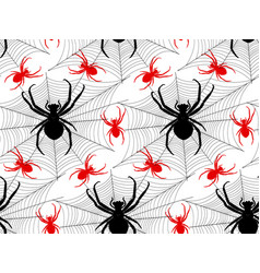 pattern with spiders vector image
