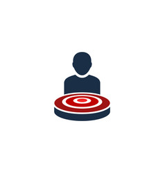 people target logo icon design vector image