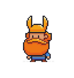 pixel art viking vector image