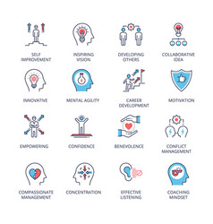 Qualities a leader and skills vector