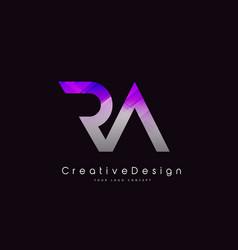 Ra r a letter logo design creative icon modern vector