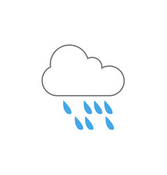 rain weather icon design template isolated vector image