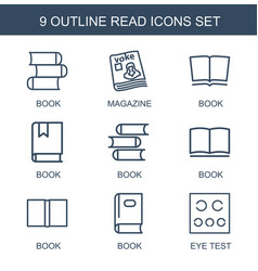 read icons vector image