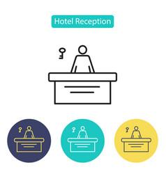 Reception icon vector