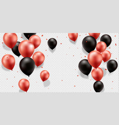 Red and black balloons vector