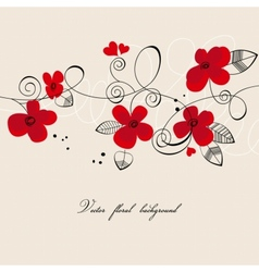 red flowers composition vector image vector image