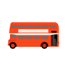 red london bus profile vector image