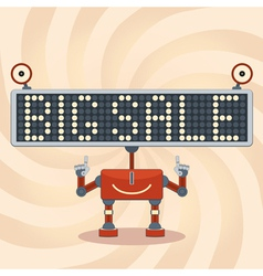 Robot sale background vector