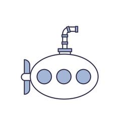 sea submarine isolated icon vector image
