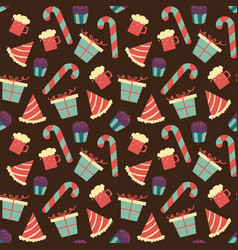 seamless chocolate pattern with sweet candy in vector image