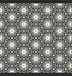 Seamless pattern with hexagons monochrome vector