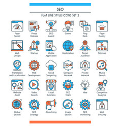 Seo icons set 2 vector
