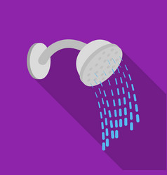 Shower icon in flat style isolated on white vector