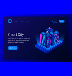 Smart city isometric concept vector
