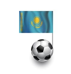 Soccer Balls or Footballs with flag of Kazakhstan vector image