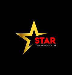 Star logo template design vector