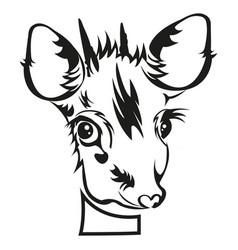 Stencil die cutting badeer head vector