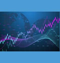 Stock market graph or forex trading chart for vector