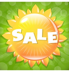 Summer And Spring Sale Poster vector image
