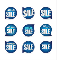 summer sale retro badge collection 3 vector image