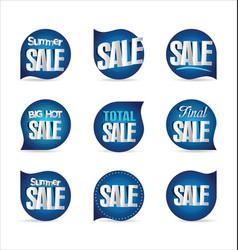 summer sale retro badge collection 3 vector image